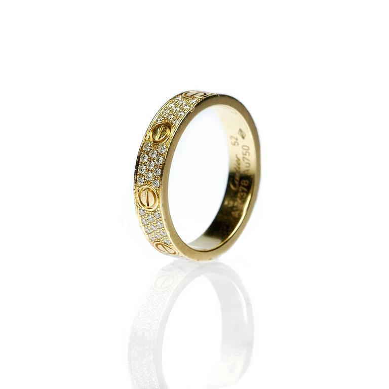 Cartier Diamond Gold Love Wedding Band Ring  2