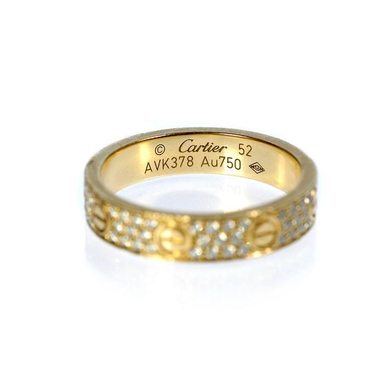 Cartier Diamond Gold Love Wedding Band Ring  3