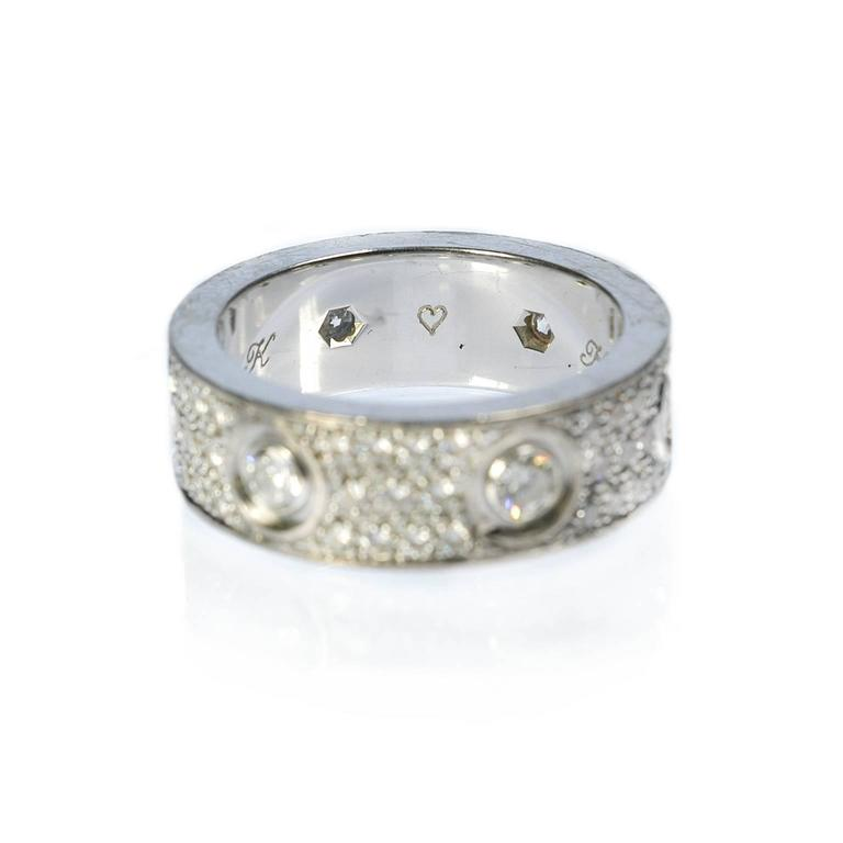 Etincelle Bands: Cartier Diamond Gold Love Wedding Band Ring At 1stdibs