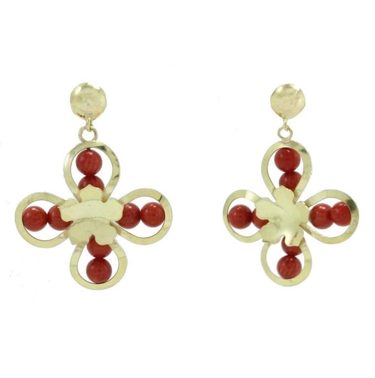 Luise Gold Flower Earrings