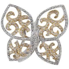Diamond Butterfly 18 Karat Gold Ring