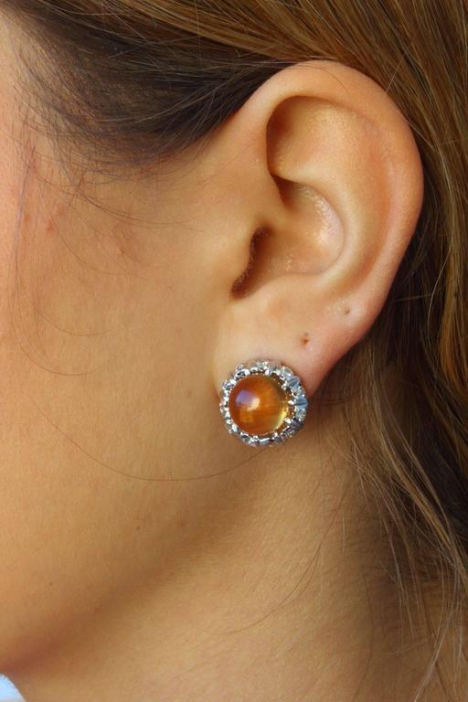 Luise Topaz Diamond White Gold Earrings 4