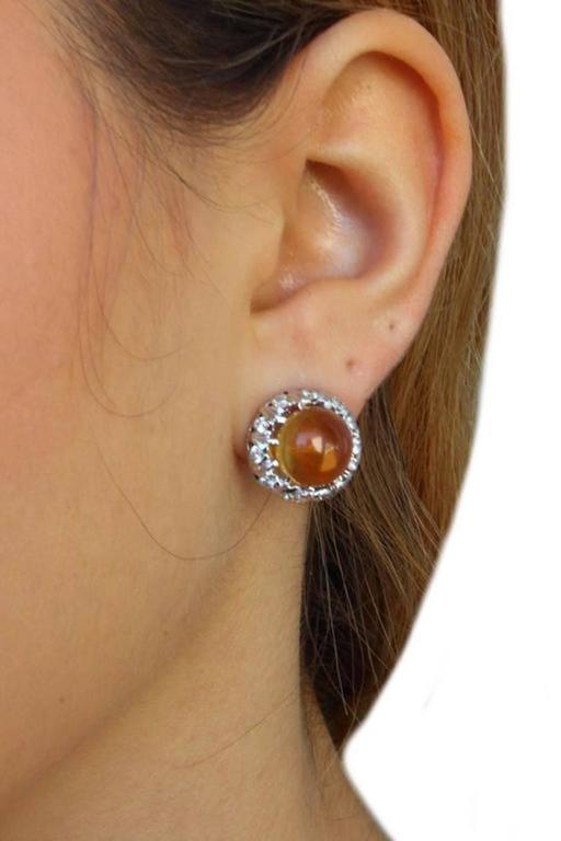 Luise Topaz Diamond White Gold Earrings 5