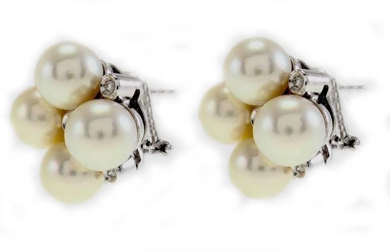 Luise Pearl Diamond Earrings 2