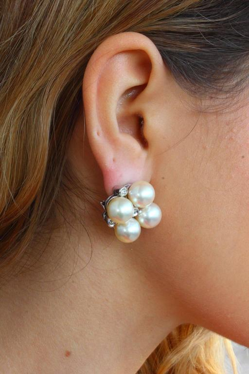 Luise Pearl Diamond Earrings 5