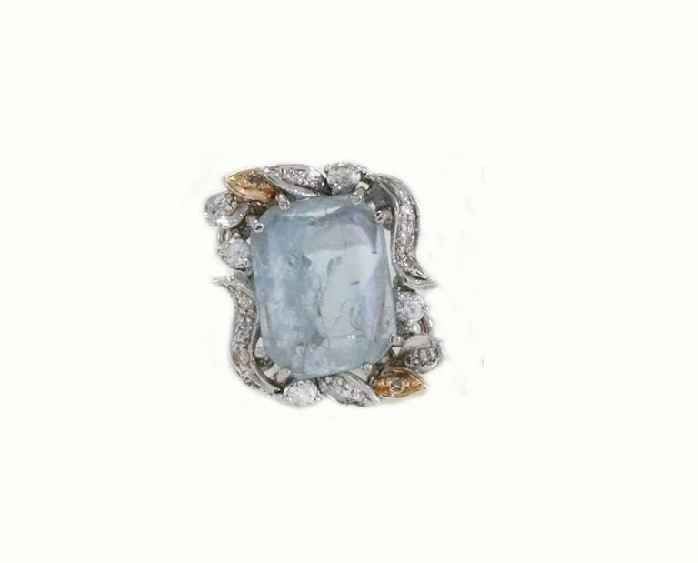 Luise  Aquamarine Diamond Earrings 2