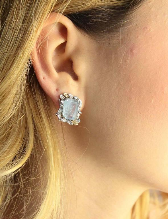 Luise  Aquamarine Diamond Earrings 4