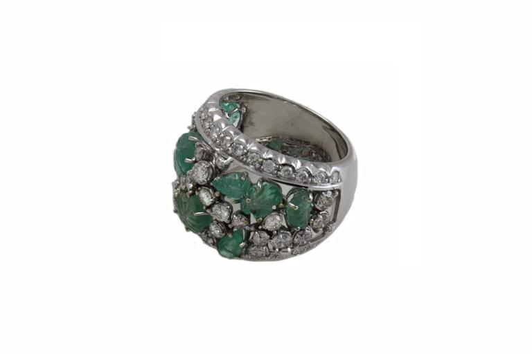 luise emerald gold band ring at 1stdibs