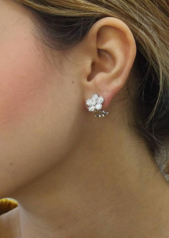Luise  Retro Diamond Gold Flower Earrings 5