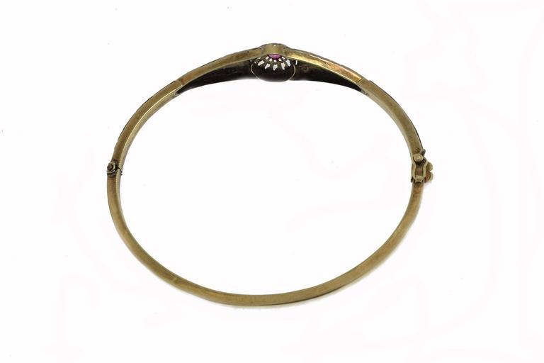 Retro Ruby Gold Bracelet For Sale
