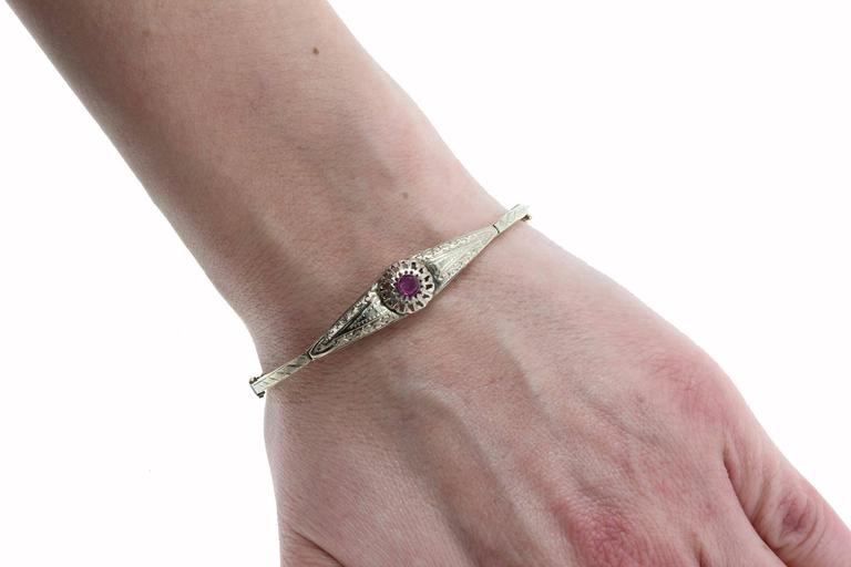 Ruby Gold Bracelet In Good Condition For Sale In Marcianise, Caserta