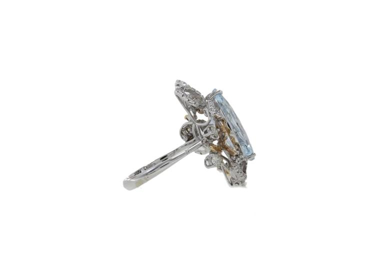 Luise Diamonds Aquamarine Cocktail Ring 2