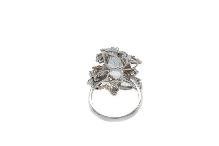 Luise Diamonds Aquamarine Cocktail Ring 3