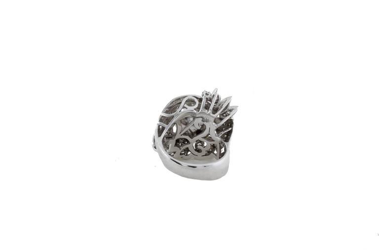 Retro Australian Pearl Diamond Gold Ring For Sale