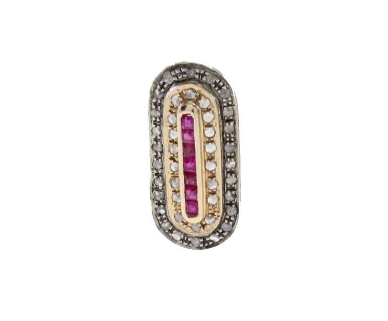 Diamond Ruby Earrings 2