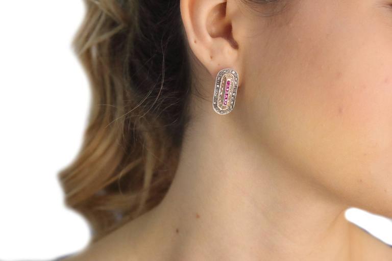 Diamond Ruby Earrings 4