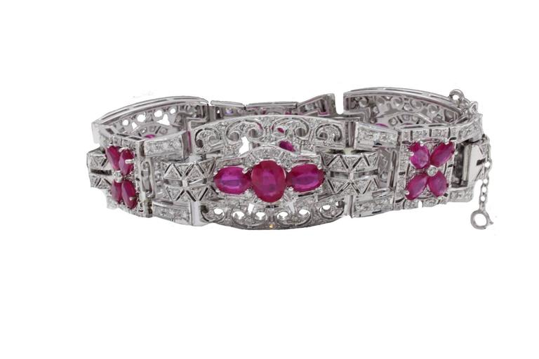 Luise Gold Diamond Ruby Bracelet 4