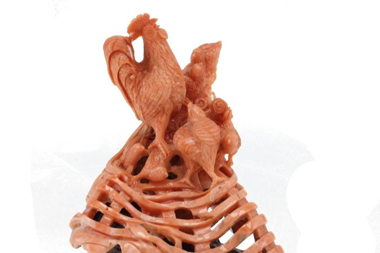 Luise Coral Wood Sculpture For Sale 1
