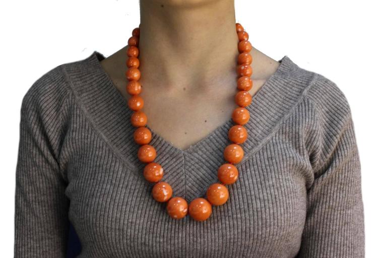 Women's Luise Gold Coral Necklace For Sale
