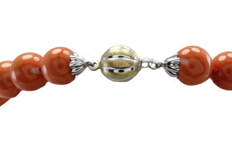 Luise Gold Coral Necklace In As new Condition For Sale In Marcianise (CE), IT
