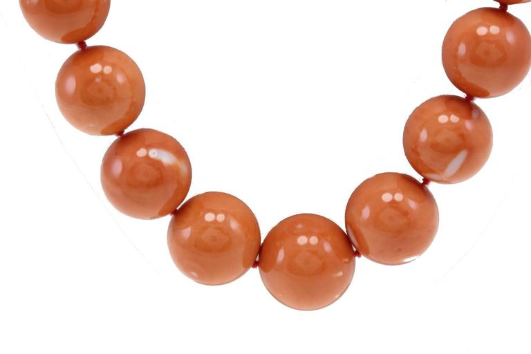 Retro Luise Gold Coral Necklace For Sale