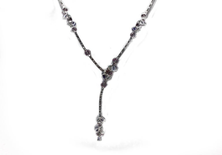 Luise Diamond Ruby Emerald and Sapphire Necklace 3