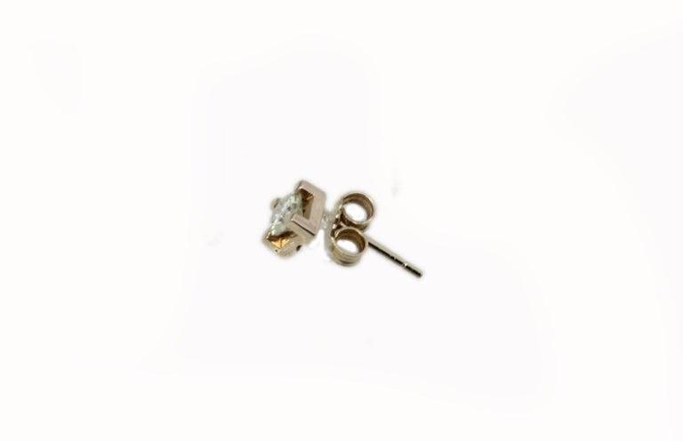 Retro  Diamonds Stud Rose Gold Earrings For Sale