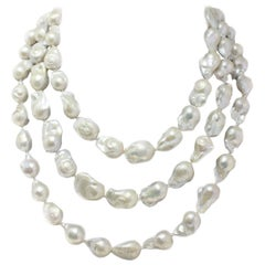 Baroque Pearls Long Necklace