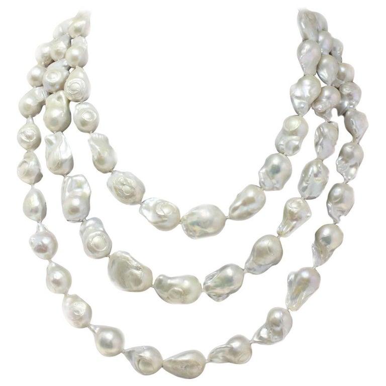Baroque Pearls Long Necklace
