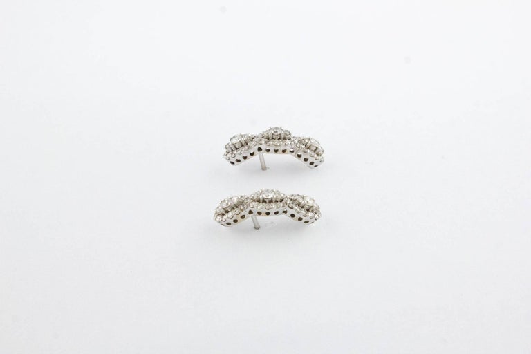 Diamonds  Earrings,18 kt White Gold Stud/Dangle In Good Condition For Sale In Marcianise, Marcianise (CE)