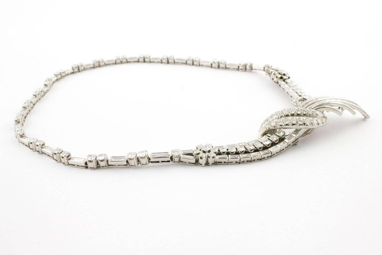 Enrich Diamonds Precious Platinum Necklace In As New Condition For Sale In Marcianise (CE), IT