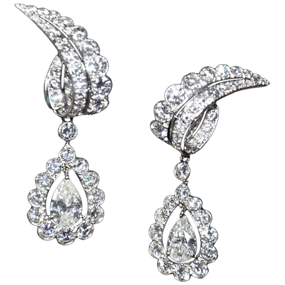 Day Night Diamond Drop Earrings With Detachable Drops By Cartier