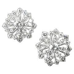 Oscar Heyman New York Diamond snowflake earrings