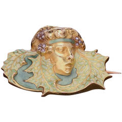 Art Nouveau Rene Lalique Enamel Diamond Gold Brooch, circa 1900