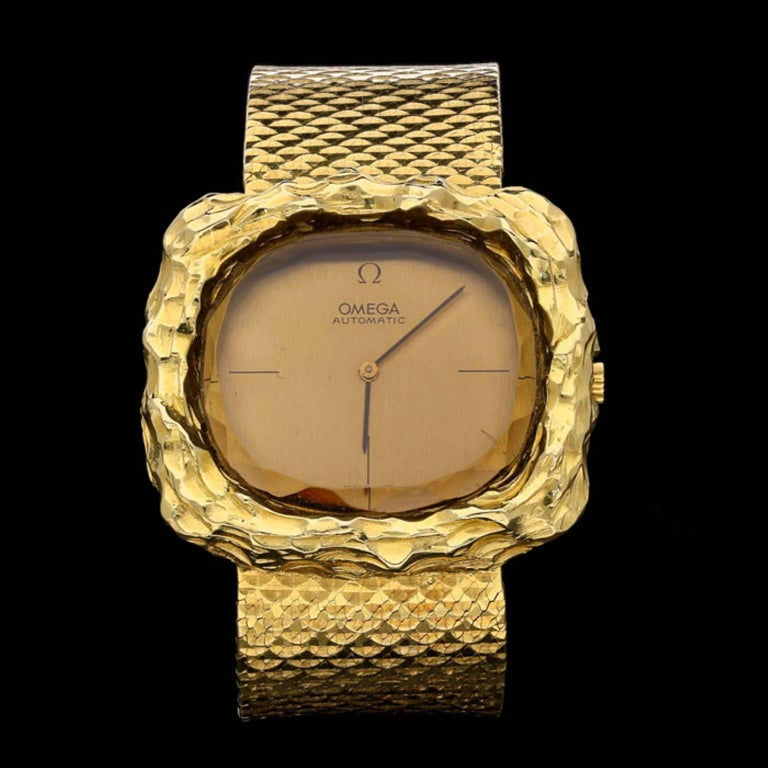 Omega By Andrew Grima Ladies Yellow Gold Teak Automatic