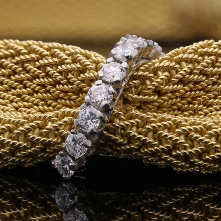 Tiffany & Co. 1950 Woven Gold Fabric Diamond Necklace 4