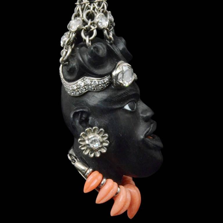 2005 Otto Jakob Jaja Diamond Ebony Blackamoor Earrings 2