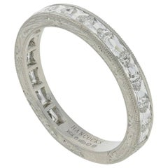 "Hancocks ""East/West"" French Cut Diamond Platinum Eternity Ring"