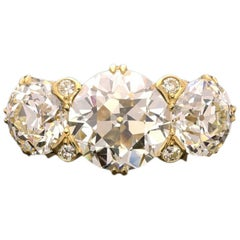 Hancocks Old European-Cut Diamond Three-Stone Gold Ring