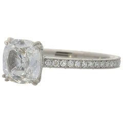 Hancocks 1.02 Carat Cushion Cut Diamond Ring
