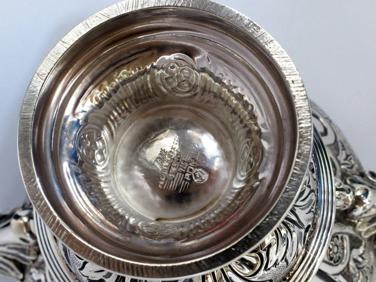 Women's or Men's Tane Mexican Sterling Silver Covered Urn For Sale