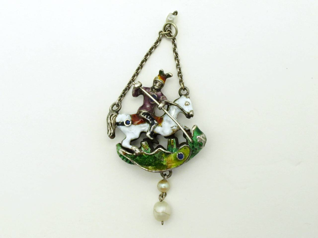 vernier george french circa art st pendant by nouveau pin e