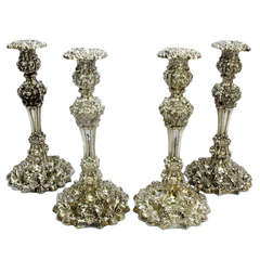 Sheffield Sterling Silver Candlesticks