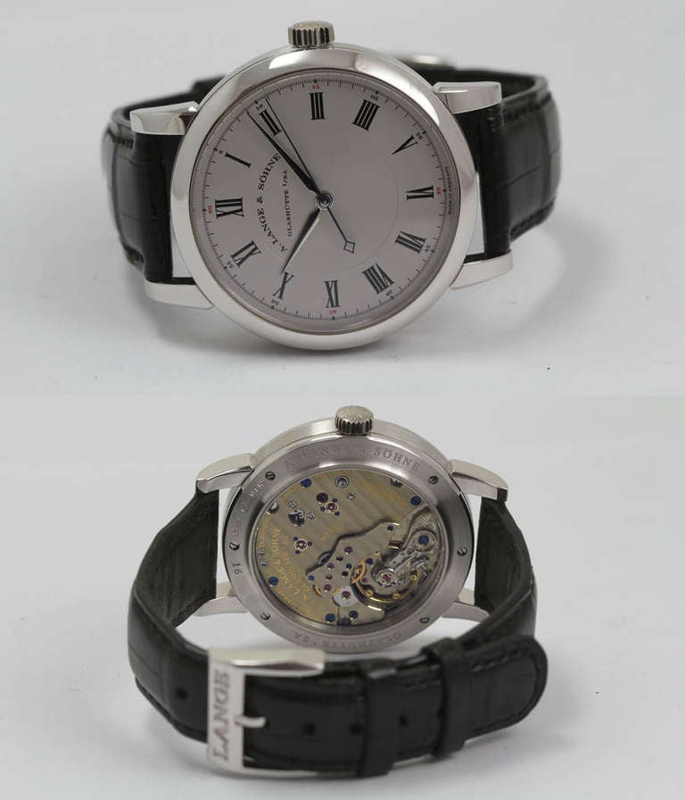 a lange and sohne platinum richard lange wristwatch with sweep center seconds at 1stdibs. Black Bedroom Furniture Sets. Home Design Ideas