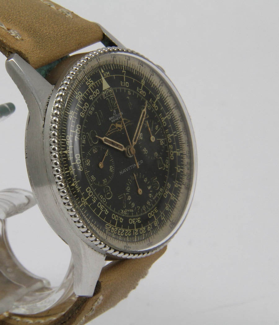 breitling stainless steel aopa navitimer chronograph
