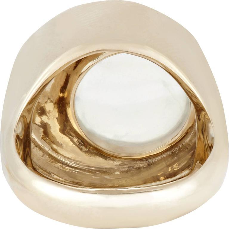 "Tilsam Blue Moonstone Diamond Gold ""Eclipse"" Ring For Sale 1"