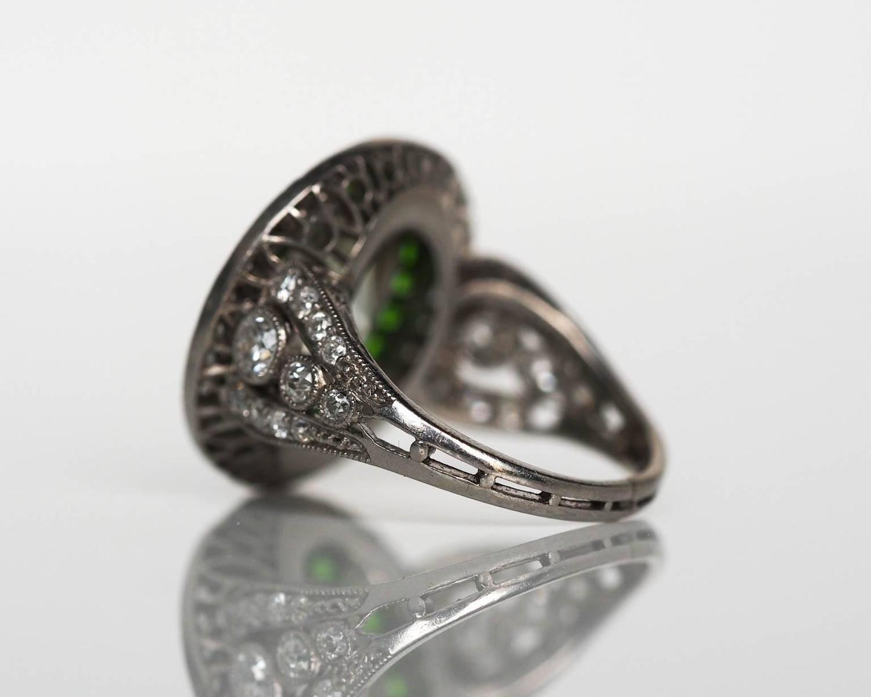 1915 Antique Art Deco 4 05 Carat Cushion Cut Diamond Platinum Engagement Ring