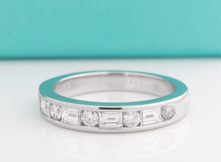 Tiffany And Co Alternating Round And Baguette Diamond