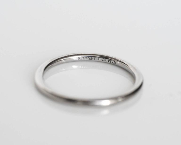 Tiffany and Co Ultra Thin Platinum Wedding Band Ring For Sale at