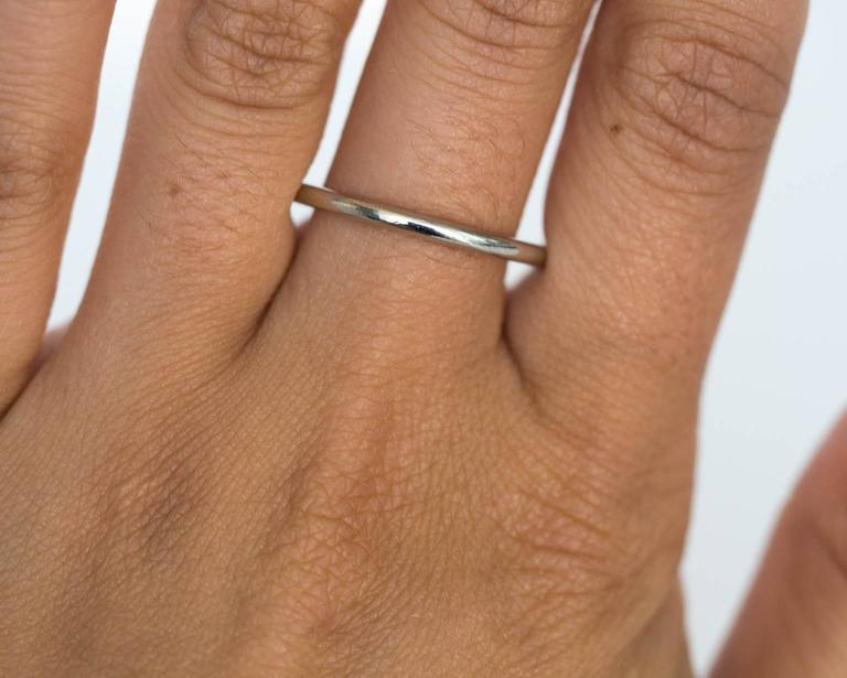Ultra Thin Platinum Wedding Band Ring For